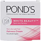 POND'S White Beauty Spot-less Fairness Cream (2 x 25g) = 50g with Free 2 Ponds White Beauty Facewash, 15g
