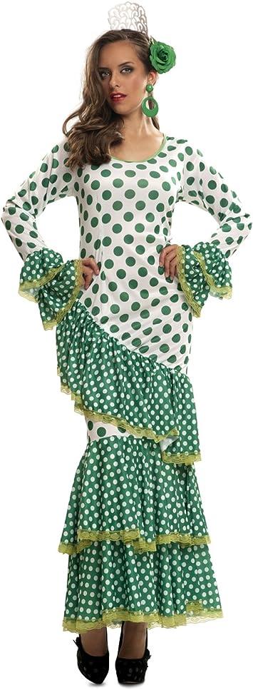 My Other Me - Disfraz de Flamenca, talla XL, color verde (Viving ...