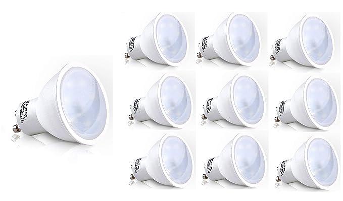 10 Pack SET GU10 LED lámpara 1,0 W 60 lm (equivalente a 10