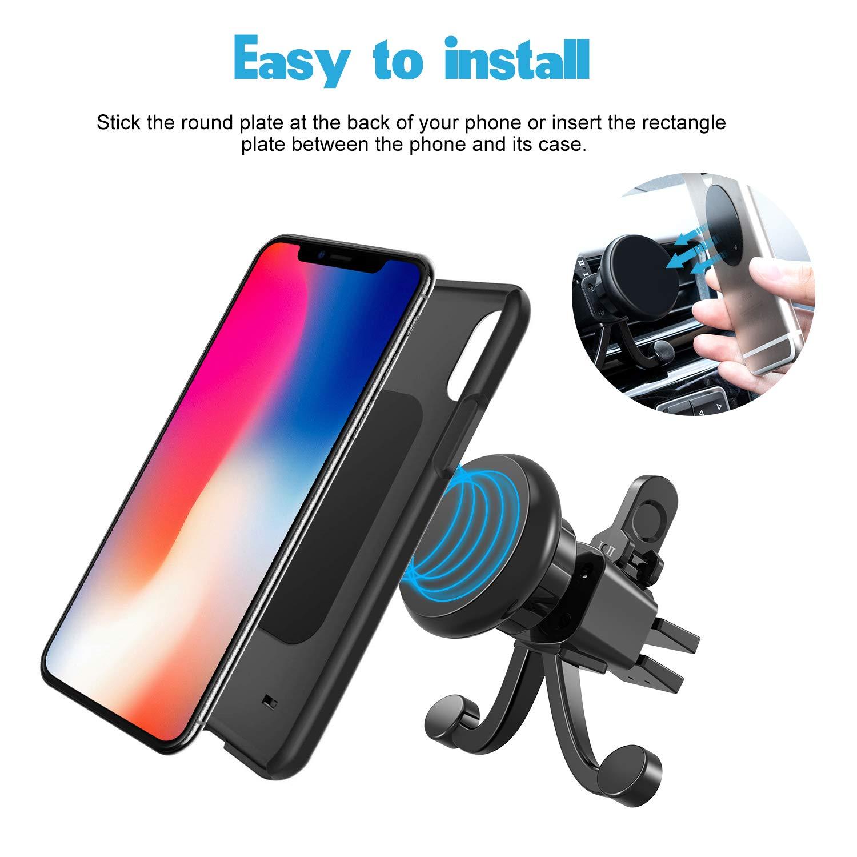 Amazon.com: 2 soportes magnéticos para teléfono.: Accesstronic