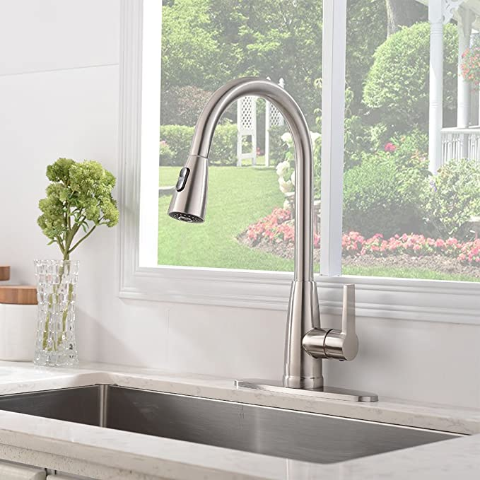 Friho Modern Commercial Lead-Free Stainless Steel Single Lever ...