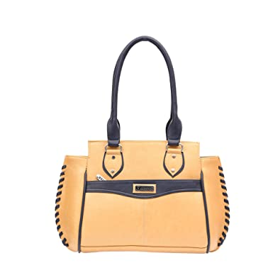 d5f827495ae3 Hester Women s Double Strap Shoulder Bag (Beige   Blue)  Amazon.in ...
