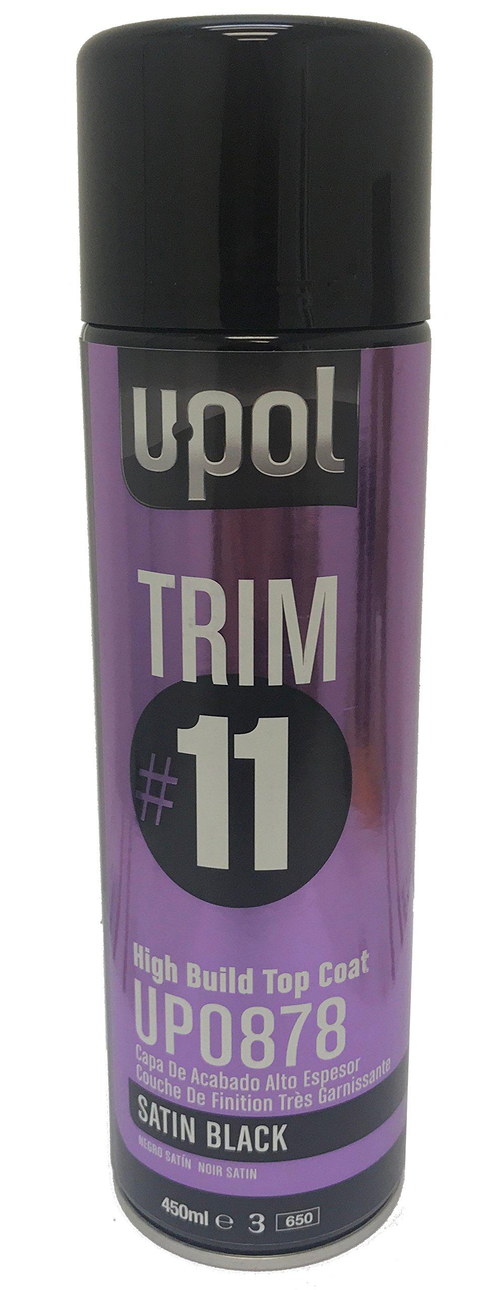 U-Pol TRIM#11 High Build Top Coat Premium Aerosols, 450ml (12oz) (Satin Black)