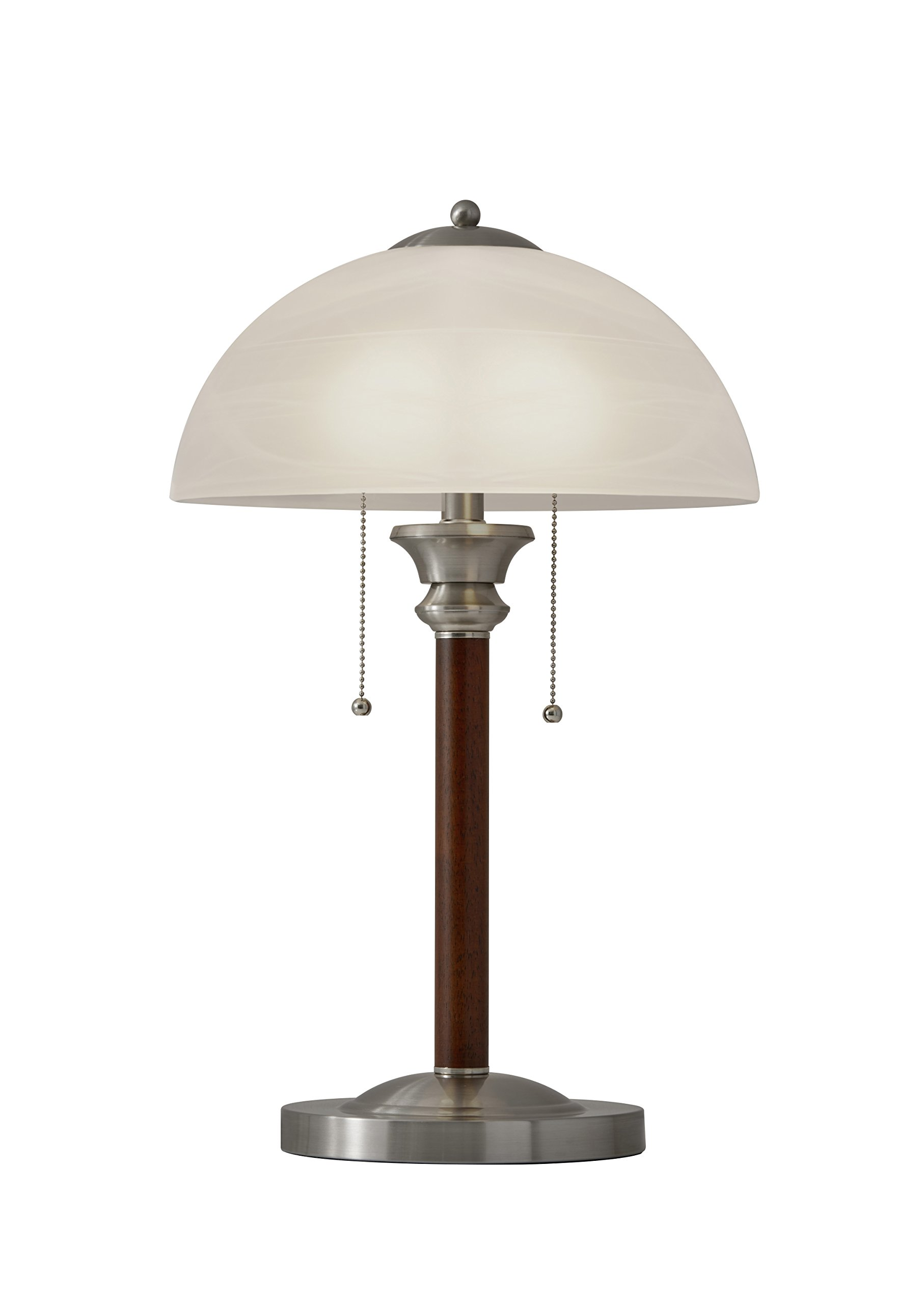 Adesso 4050-15 Lexington 22.5'' Table Lamp – Lighting Fixture with Walnut Wood Body, Smart Switch Compatible Lamp. Home Improvement Equipment