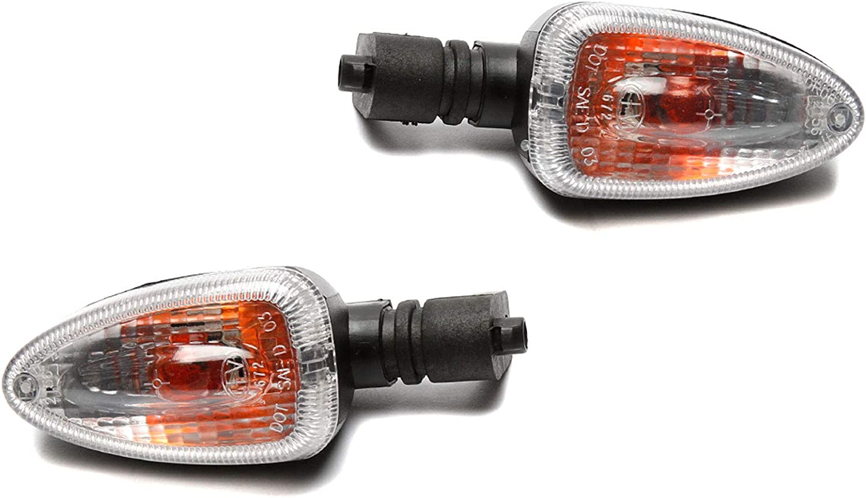 LED Smoked Front Flush Mount Indicators Pair Yamaha YZF-R1//R6//R6S /& More