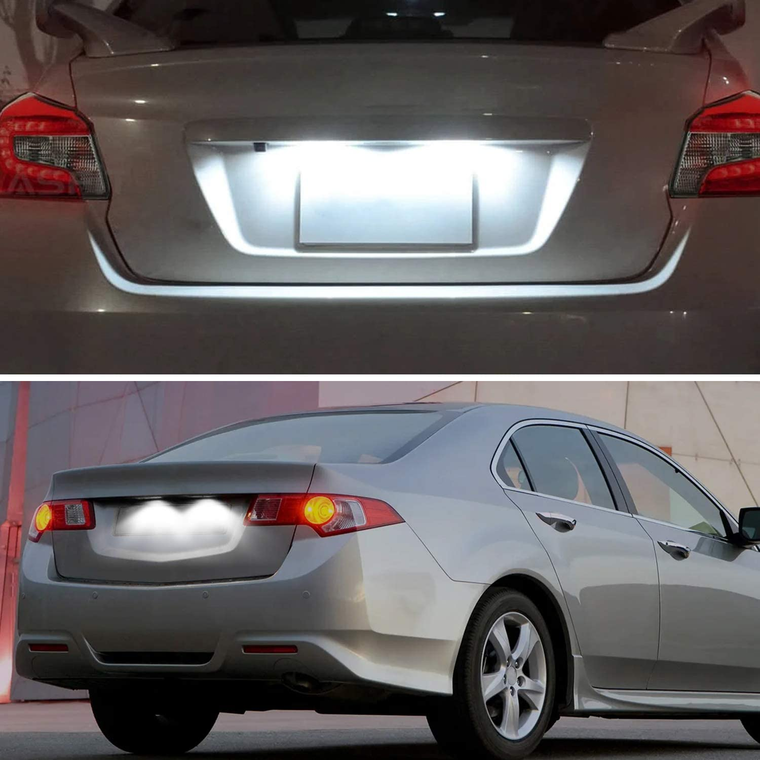 6000K White NDRUSH LED License Plate Light Tag Lights Compatible with Honda Accord Civic Sedan Odyssey Pilot Acura Pack of 2