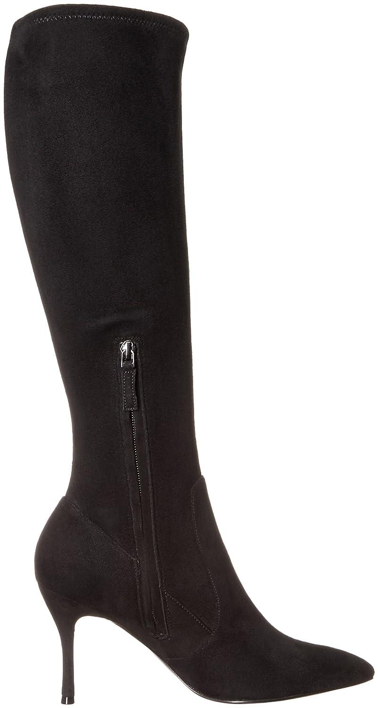 Nine West Women's Calla Fabric Knee-High Boot B01H1C7FTI 10 M US|Black