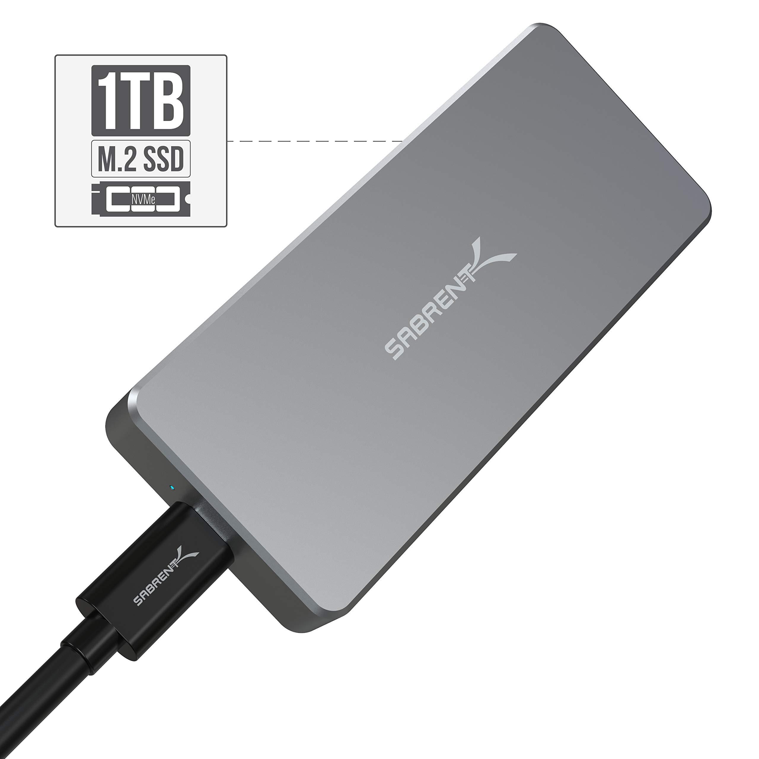 Sabrent Rocket Pro 1TB NVMe USB 3.1 External Aluminum SSD (SB-1TB-NVME)