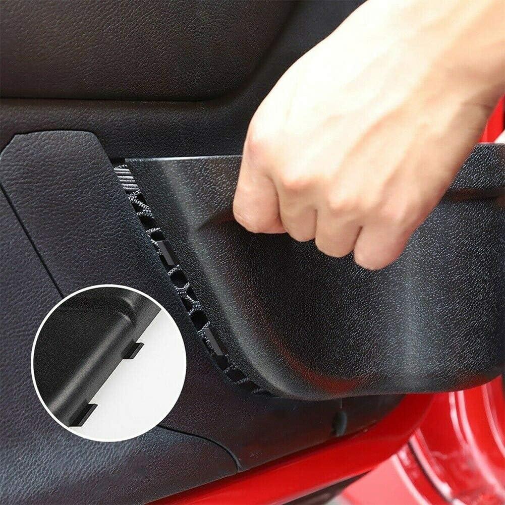 MKING 2PCS Front Door Net Pocket Storage Box Black for Jeep Wrangler JK JKU 2011-2017
