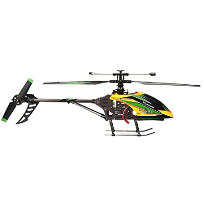 NiGHT LiONS TECH WL Large V912 4CH Single Blade Remote Control RC Helicopter With Gyro RTF For Outdoor Flying (yellow): Toys & Games