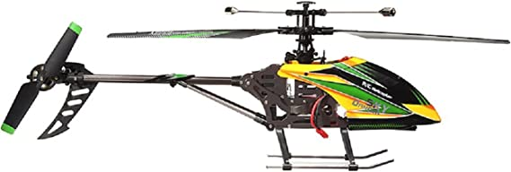 NiGHT LiONS TECH WL Large V912 4CH Single Blade Remote Control RC Helicopter With Gyro RTF For Outdoor Flying (yellow)
