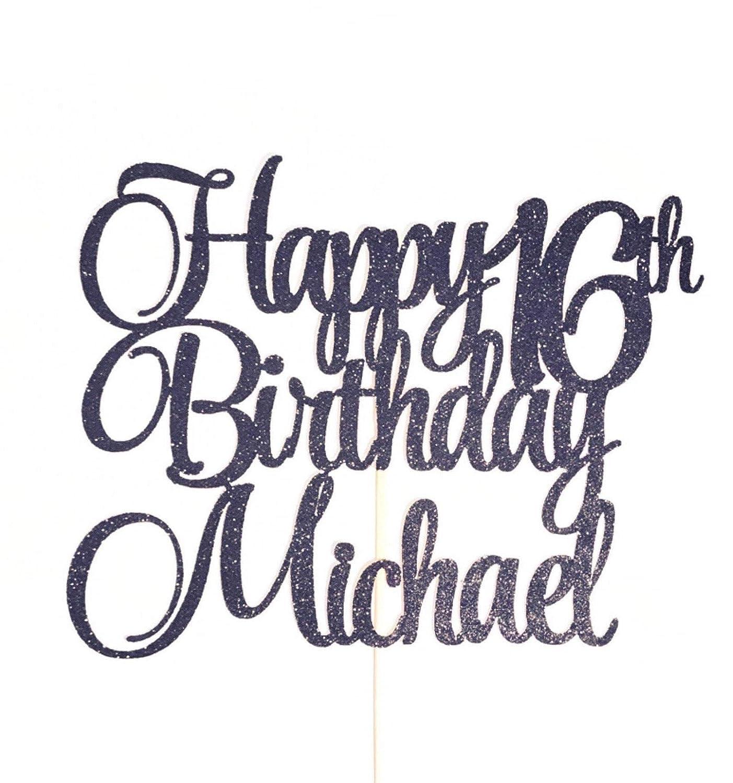 Superb Personalized Birthday Any Name Number Happy Birthday Cake Topper Personalised Birthday Cards Veneteletsinfo