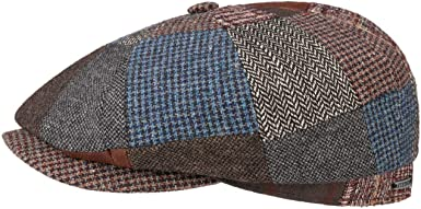 Made in Germany Stetson Hatteras Linen Checked Cap Men