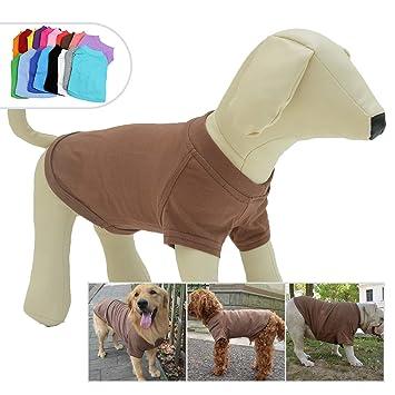 Lovelonglong 2019 Pet Clothing Dog Costumes Dachshund Clothes Blank T-Shirt Tee Shirts for Dachshund Dogs,Corgi 100/% Cotton Blue D-M