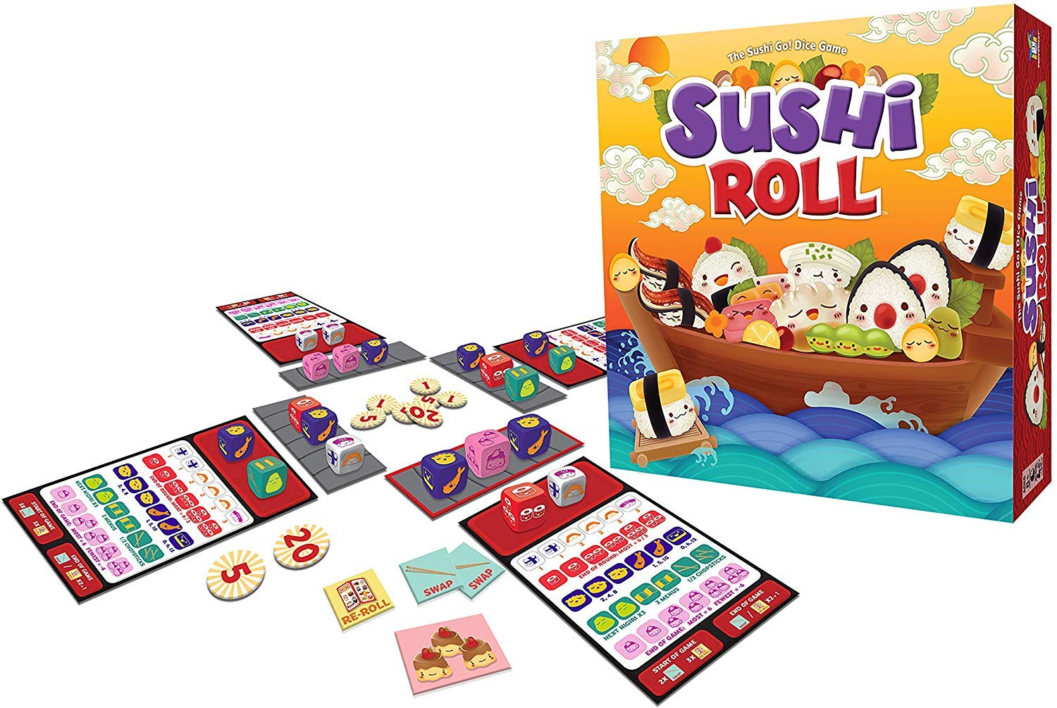 Sushi Roll - The Sushi Go! Dice Game by Gamewright