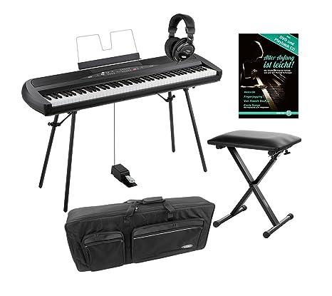Korg SP de 280 BK Portable Piano Set (88 teclas, NH de teclado,
