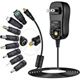 [Upgraded Version] SoulBay Universal AC/DC Adapter Multi-Voltage Regulated Switching Power Supply with 8 Selectable…
