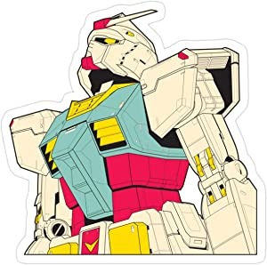 Stickers Mobile Suit Gundam Sticker 3x4 Inch (3 Pcs/Pack) Laptop Decals