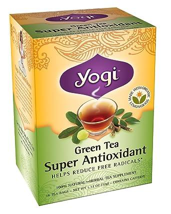 Pack de 18 x Yogi Tea Té Verde bolsitas de té súper-oxidante – 16 ...