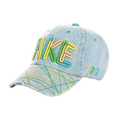 ACVIP Kids Boy s Letter Animal Denim Baseball Cap Sun Hat (Light Blue TAKE) 9ff2bbb50476