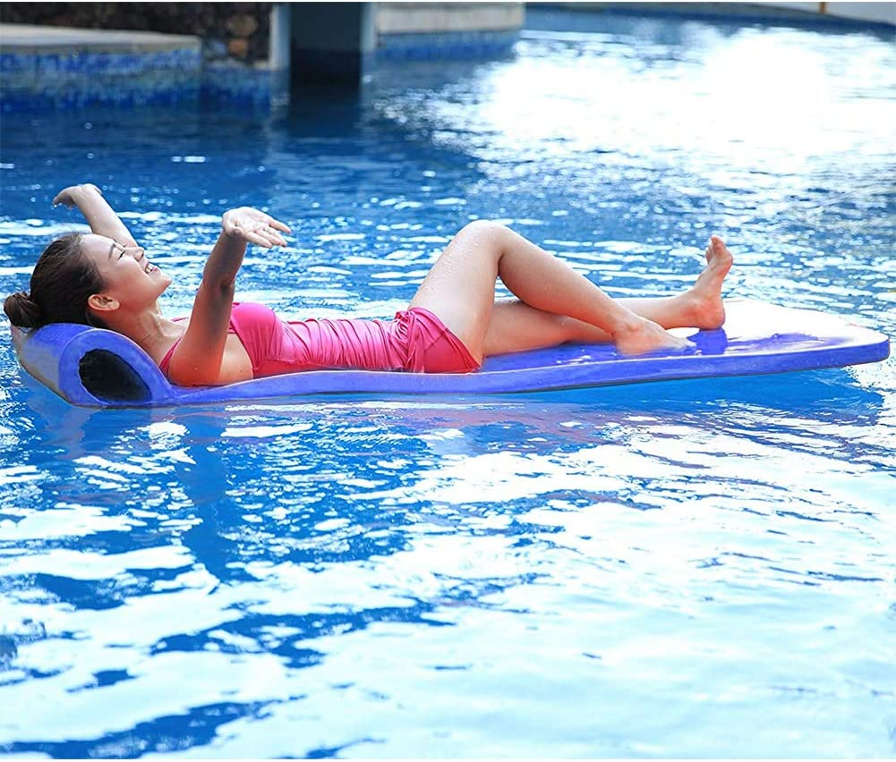 California Sun Deluxe Oversized Unsinkable Foam Cushion Pool Float - Ocean Blue by California Sun: Amazon.es: Juguetes y juegos