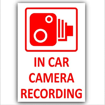 Platinum Place 5 x WARNING DASH CAM Recording-RED onto CLEAR-30mm x 87mm-Stickers-Vehicle Camera Security Warning Dash Cam Signs-CCTV,Car,Van,Truck,Taxi,Mini Cab,Bus,Coach,Notice,Deterrent,Safety