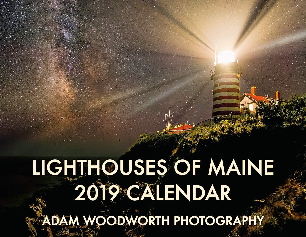 2019 Lighthouses of Maine Wall Calendar: Adam Woodworth: Amazon com