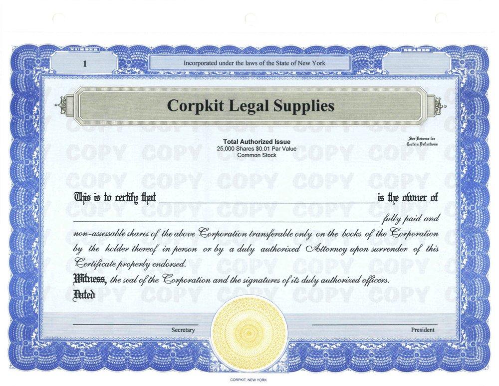 Amazon 20 Blue Corpkit Customized Membership Certificates