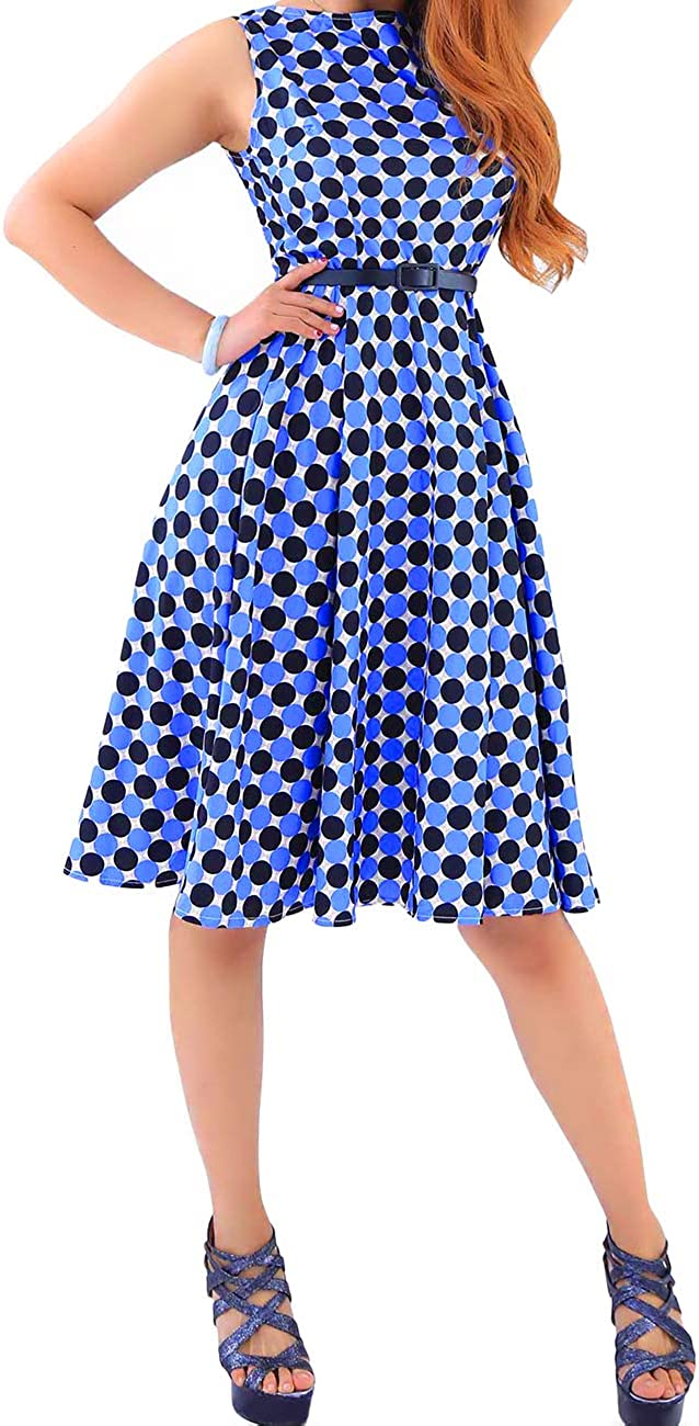 vestido de fiesta XS-XXXXL sin mangas vintage vestido de fiesta OMZIN Vestido de c/óctel para mujer