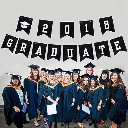 amazon com luoem 2018 graduation party banner graduate graduation