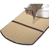 WooPet! Cat Litter Mat Large 24 x 22, Scatter Control Kitty Litter Mats for Cats Tracking Litter Out of Litter Box