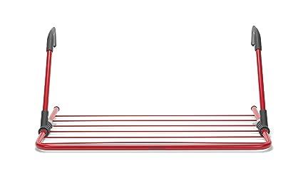 Brabantia Tendedero para Colgar, Acero Inoxidable, Rojo, 68 x 44 x 3.5 cm