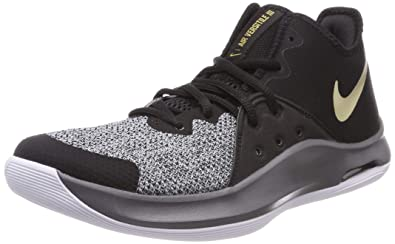 new styles ddd07 44481 Nike Air Versitile III, Chaussures de Basketball Mixte Adulte, Multicolore  (Black Metallic