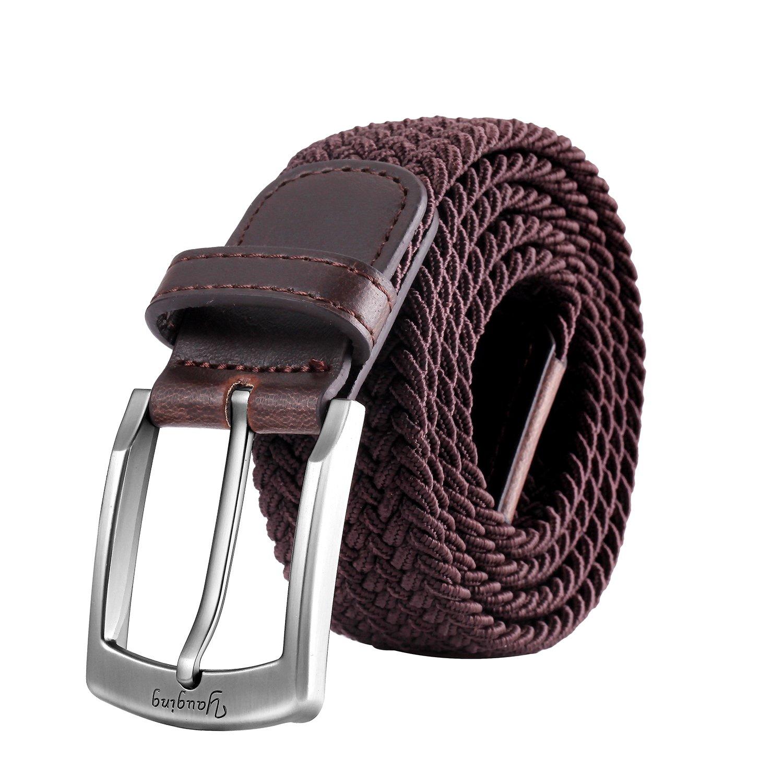 Ceintures pour hommes, ceinture élastique élastique avec boucle couverte,  pour jeans, ceintures pour 191caca3806