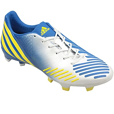 new product 13ece a56ac adidas Mens Mens Predator LZ TRX FG Football Boots in White Yellow - UK 10.5