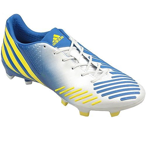 new york 7e03c 47abd ... spain adidas predator lz trx fg botas en color blanco amarillo azul  color blanco 2e9cd 9ef81