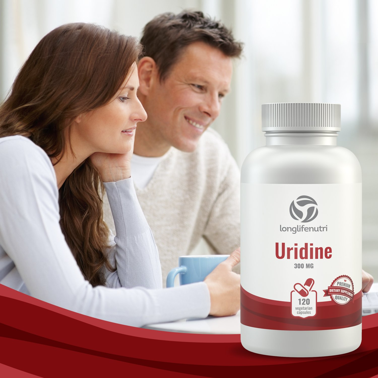 Uridine Monophosphate 300mg - 120 Vegetarian Capsules | Made In Usa | Choline Enhancer | Supports Cholinergic Brain & Memory Function | Helps Synapses Growth | 300 mg Pure Powder Pills Complex Formula by LongLifeNutri (Image #6)