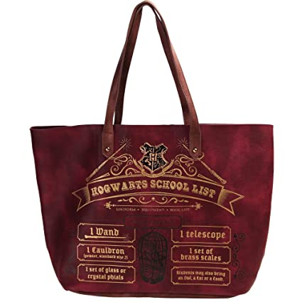 a3849952fcf2 Official Harry Potter Hogwarts Back to School List Large Tote Shopping Bag   Amazon.co.uk  Luggage