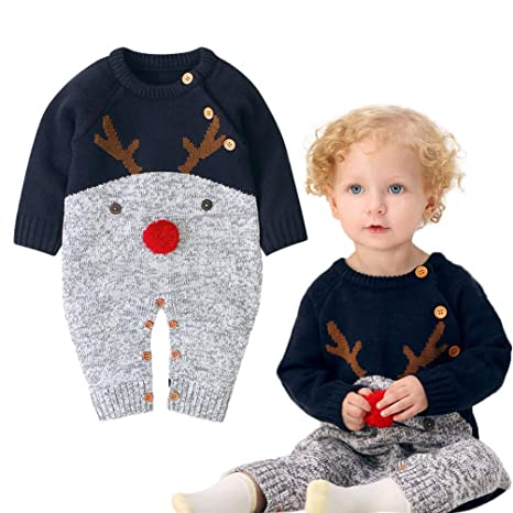 Chándal de punto para niños, jersey navideño para niños con motivo ...