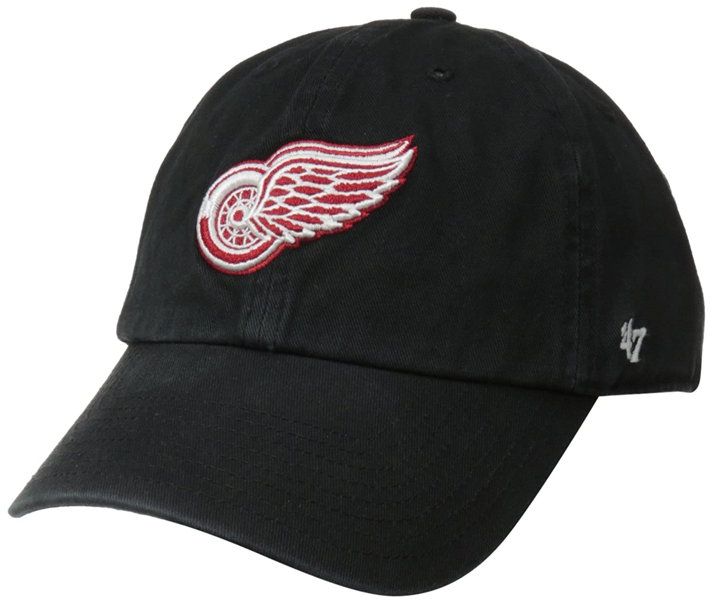 '47 Brand Detroit Red Wings Clean Up Baseball Cap - Black One Size Twins Enterprise/47 Brand H-RGW05GWS-BK-OSF