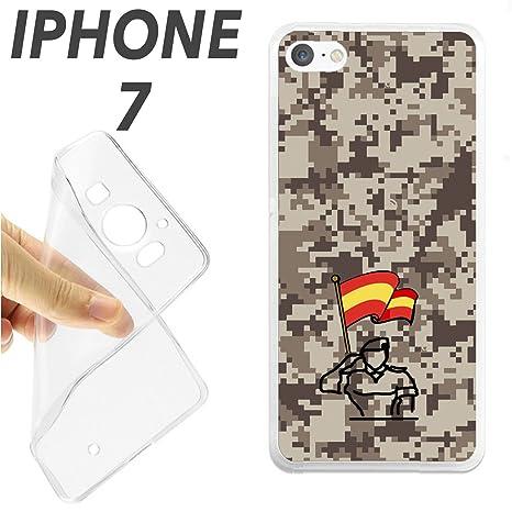 K196 FUNDA CARCASA IPHONE 7 BLANDA GEL TPU EJERCITO ESPANOL ...