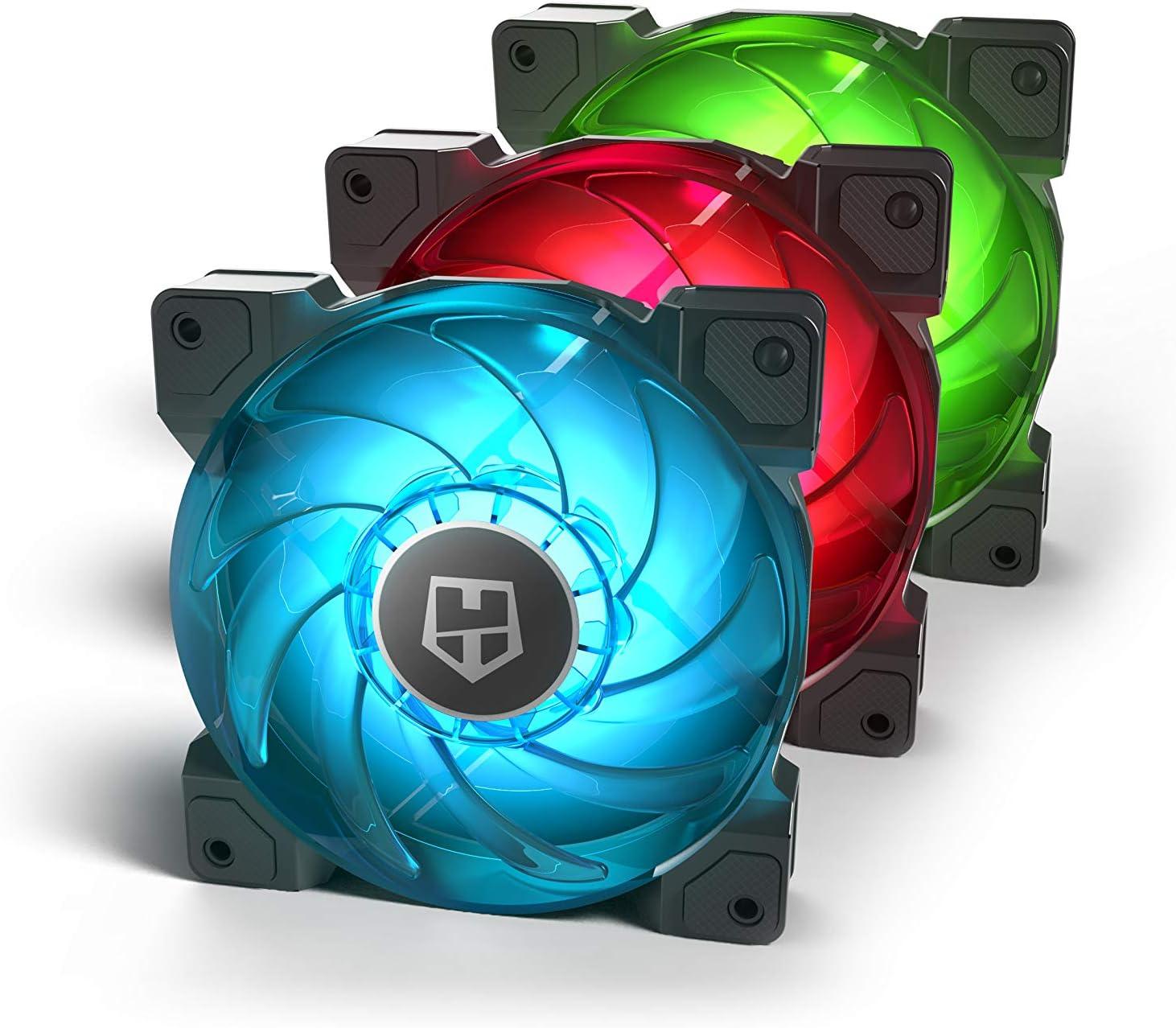Nox H-Sync - NXHUMMERHSYNC - Pack de Ventilación 120 mm, RGB
