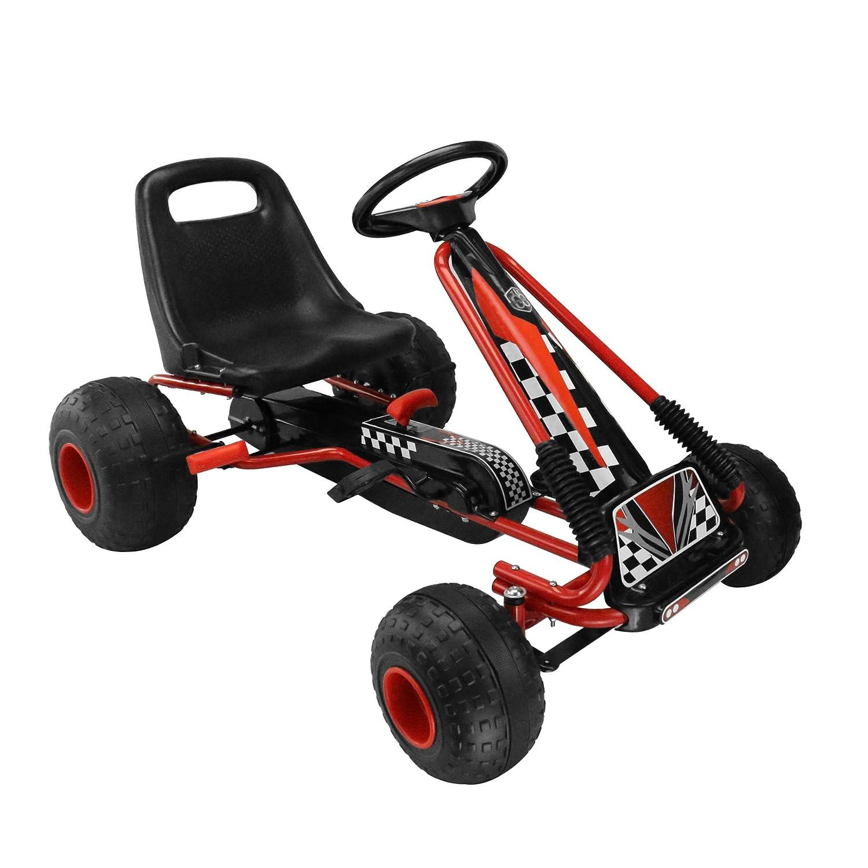 Amazon.com: MIGOTOYS Kids Racing Pedal Go-Kart Ride On, Red: Toys ...