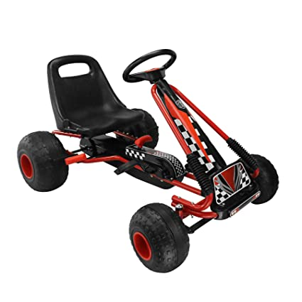Amazon com: MIGOTOYS Kids Racing Pedal Go-Kart Ride On, Red