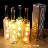 ootb Botella de Cristal Ahumado con 10 Luces LED Blancas ...