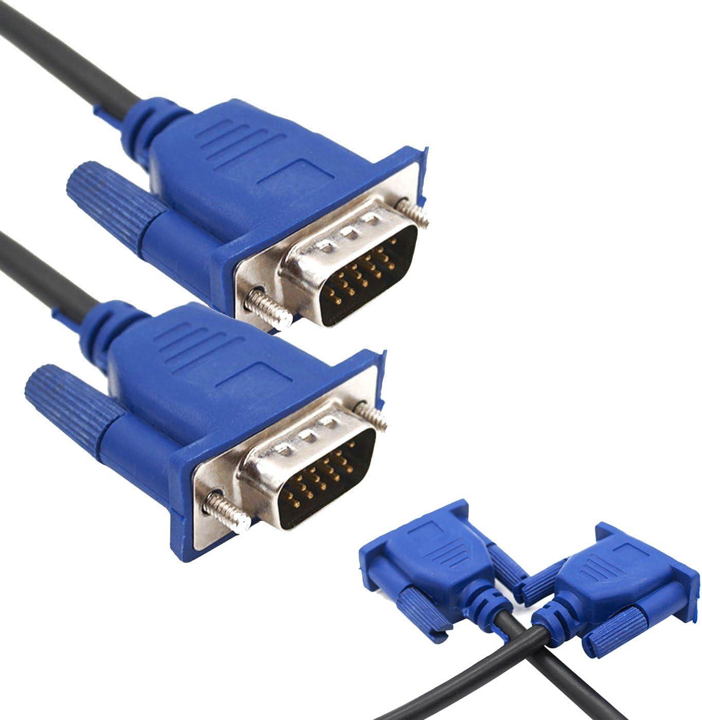 VGA SVGA macho a macho 15 pin Monitor recambio cable para PC portátil ordenador MAC a LCD TFT Monitor Protector de Por exzzel: Amazon.es: Electrónica