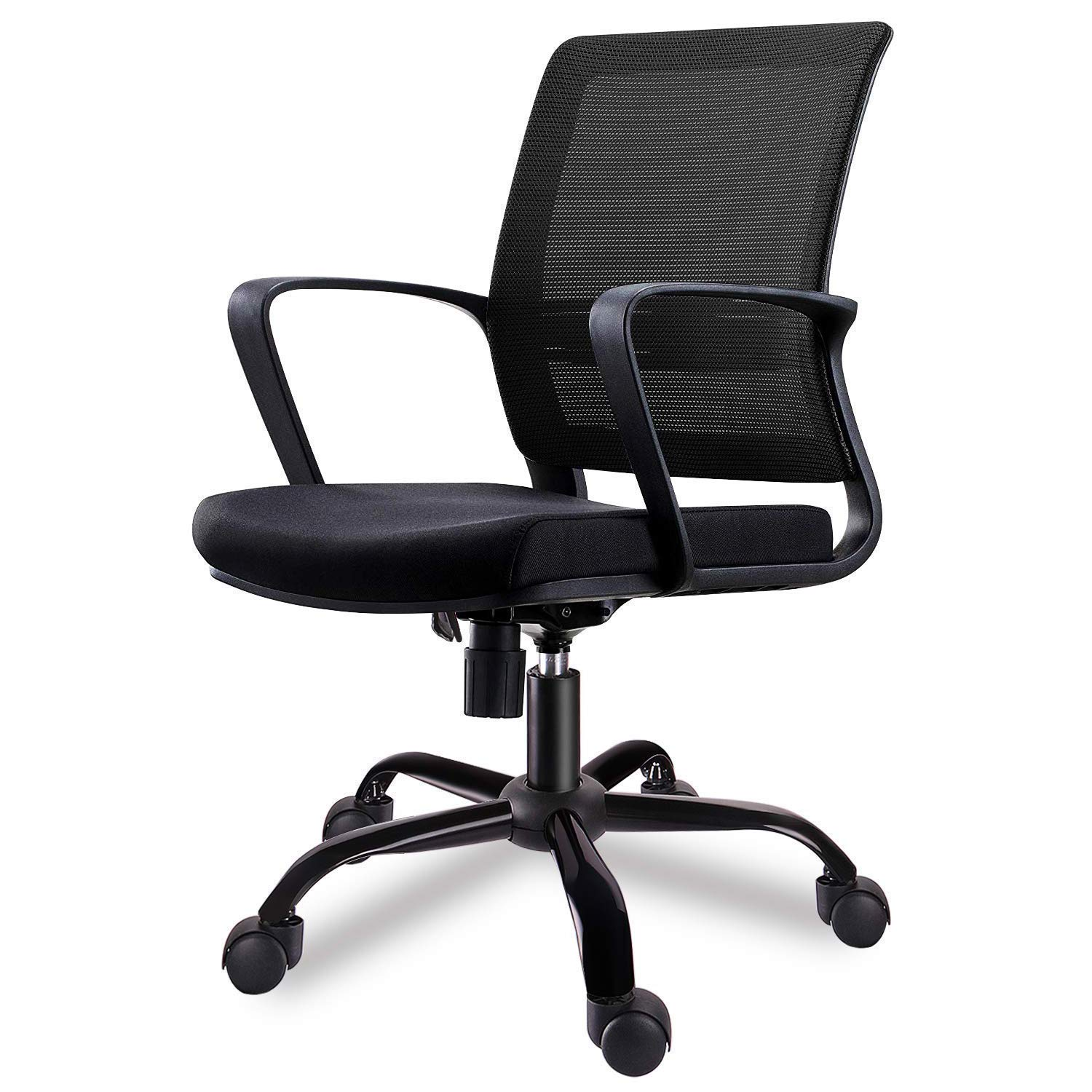 SMUGDESK Mid-Back Big Ergonomic Office Lumbar Support Mesh Computer Desk Task Chair with Armrests by SMUGDESK