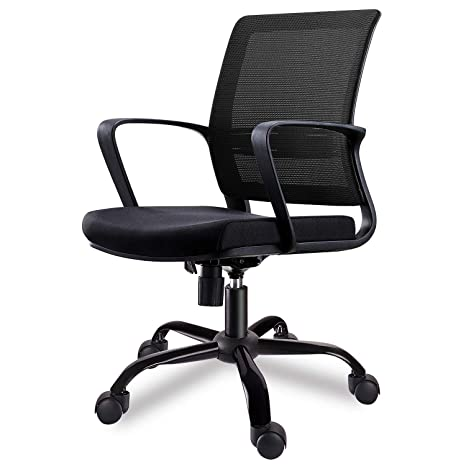 Pleasant Smugdesk Mid Back Big Ergonomic Office Lumbar Support Mesh Computer Desk Task Chair With Armrests Dailytribune Chair Design For Home Dailytribuneorg