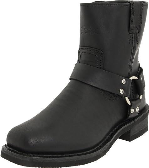 Harley Davidson EL Paso/BLK Short Harness W/Inside Zip D94422 - Botas de Cuero para Hombre: Amazon.es: Zapatos y complementos