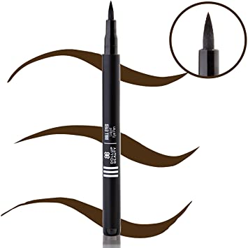 Dollup Beauty Doll Eyes Color Brown Liquid Eyeliner Pen - For Winged Liner,